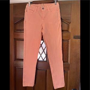 G.H Bass peach color denim skinny jeans